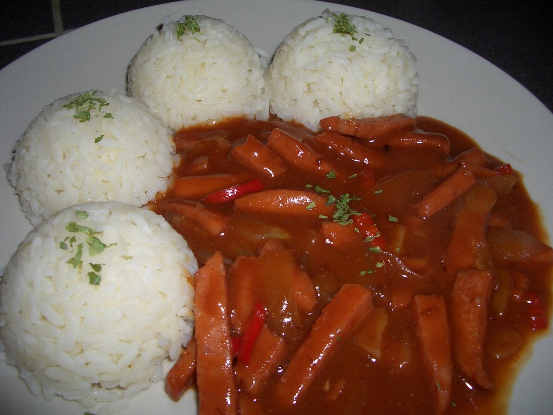 Čertova omáčka s rýží