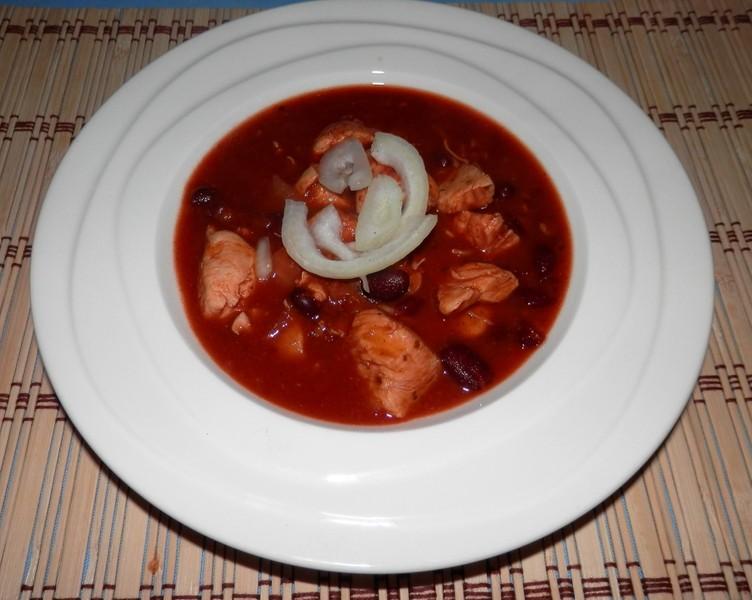 Dietní mexický guláš z kuřecího masa