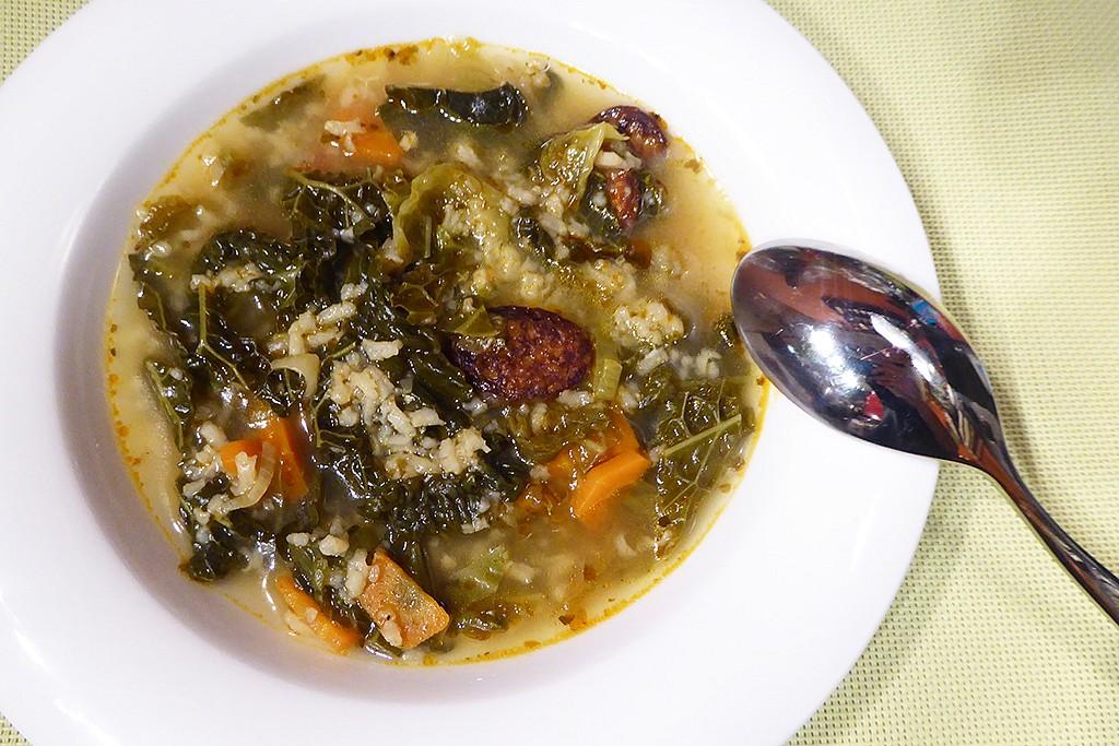 Kapustová polévka - portugalská inspirace