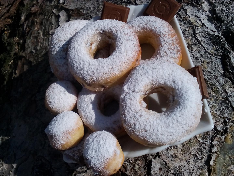 Pečené čokoládové donuty