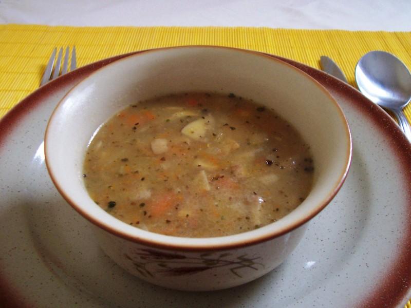 Polévka z dušených klouzků