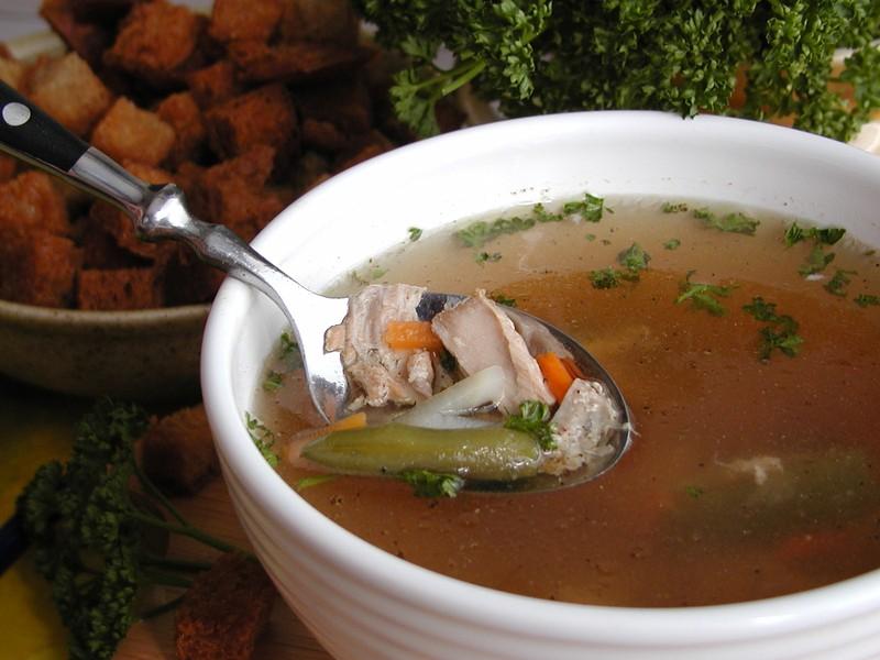 Polévka z lososa
