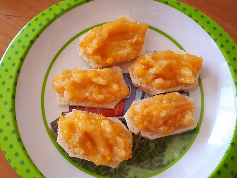 Pomazánka z mrkve, petržele, cukety a brambor - pro nejmenší