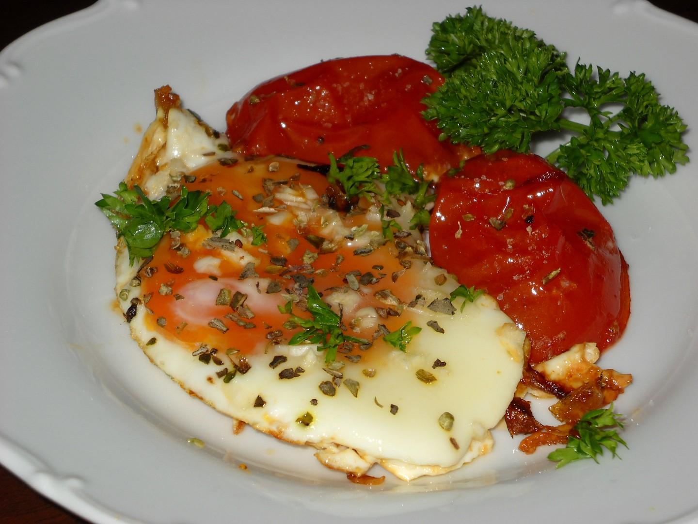 Provensálská rajčata s vejci