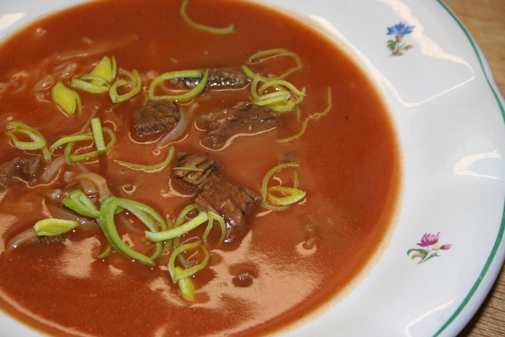 Rajská polévka sváteční