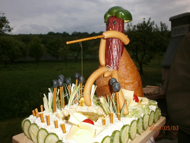 Slaný dort rybář