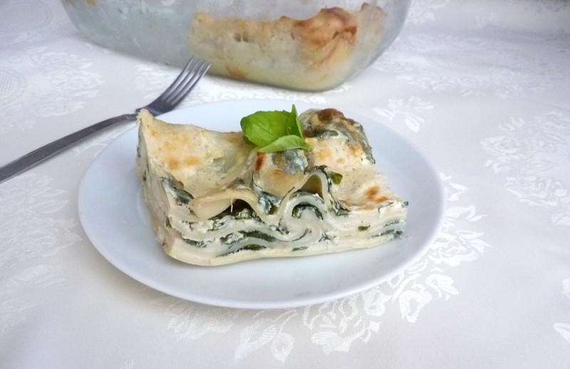 Špenátové lasagne s ricottou