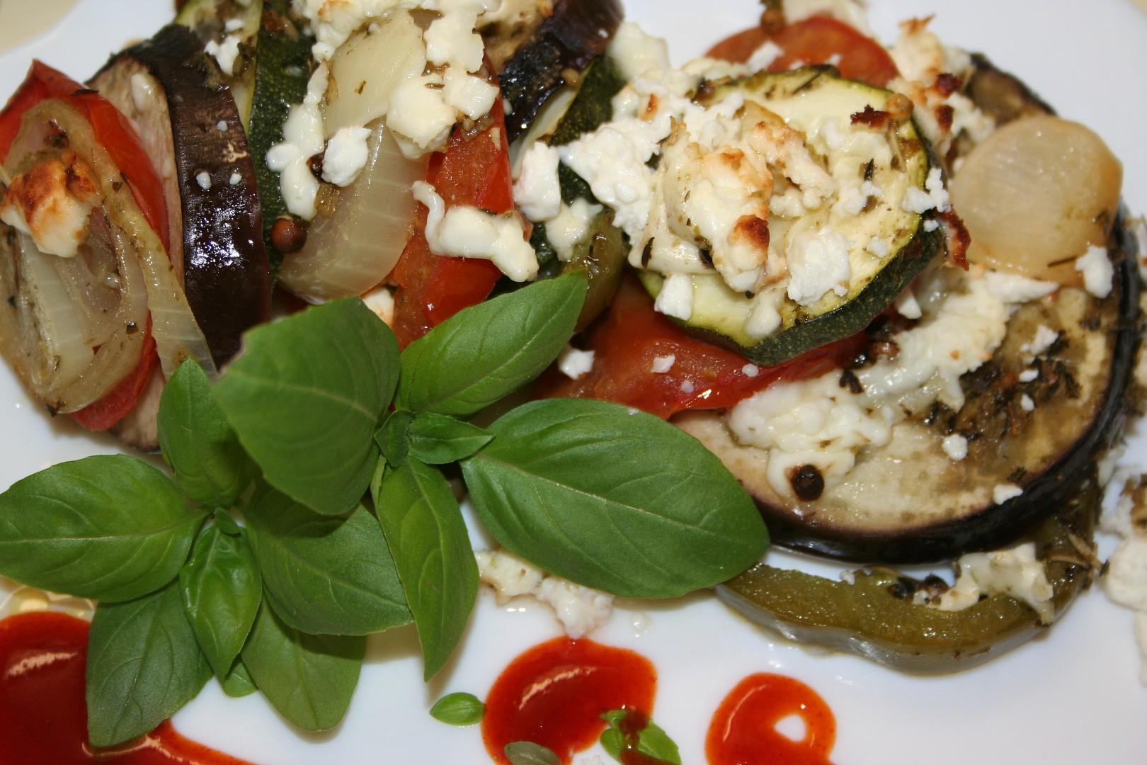 Středomořská zelenina na plechu