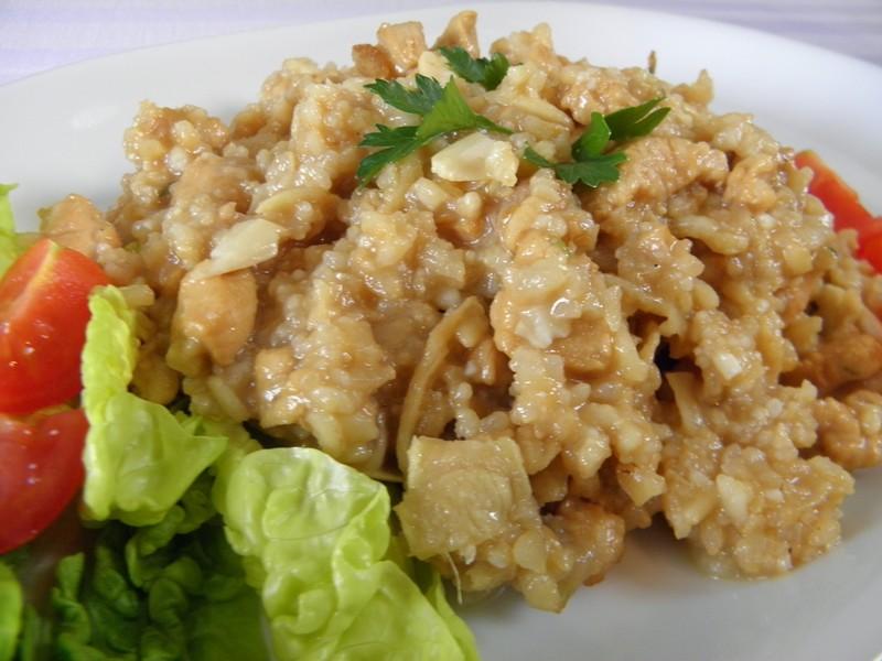 Zázvorová rýže s kuřecím masem